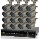 Q-See 16-Channel Surveillance System with 500 GB Hard Drive and 16 Weatherproof CCD Cameras (QT426-618-5)