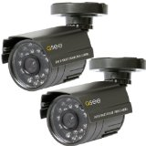 Q-See QSM1424C2 Indoor and Outdoor Security Cameras with 40 feet of Night Vision (2 pack)