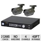 Q-See QS464-211 Smart Recording Security System with 2 Indoor/Outdoor Cameras and Internet Monitoring