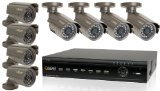 Q-See QT426-803-5 16 Channel H.264 Sleek DVR System with 8 Weatherproof CCD Cameras and Remote Monitoring