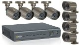 Q-See 8-Channel Surveillance System with 500 GB Hard Drive and 8 Weatherproof CCD Cameras (QT428-818-5)