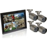Q-see 10″ LCD 8 Channel DVR With 4 520 TVL Cameras All In One System KW4776