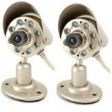 Q-See QSICC2PK Indoor Color CMOS Camera Kit with Night Vision and Audio (2-Pack)