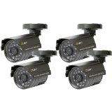 Q-see QSM1424C4 Surveillance/Network Camera – Color, Monochrome. 4PK Q-SEE COLOR CAM 1/4 SENSOR 400TVL 3.6MM LENS NV-CAM. CMOS – Wired