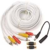 Q-See QS60F Audio, Video & Power 60 Foot Extension RCA Cable