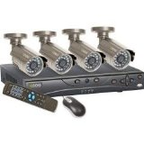 4-Channel H.264 500GB DVR with 4 CCD Color Cameras