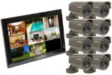 Q-See QC40108-803-5 10-Inch Observation 8 Channel DVR with 500 GB HD 8 CCD Cameras 420 TV Lines, MAC OS Compatible