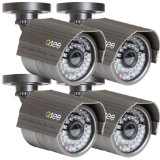 Q-See QSM5265C4 4 Pack of  High Resolution Premium 520 TV Line Color Camera with 100ft of Night Vision