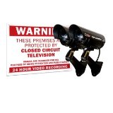 Q-See QSSIGD2 Decoy Cameras and Warning Sign (2 Pack)