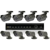 Q-see QT426-811-5 16-Channel Video Surveillance System. Q-SEE 16 CH H.264 NETWORK DVR WITH 8 COLOR CAMS & 500GB HDD SDVR. 8 x Camera, Digital Video Recorder – H.264 Formats – 500 GB Hard Drive