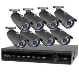 Q-See QT426-841-5 16-Channel DVR Security System with 500GB Hard Drive and 8 High-resolution Cameras