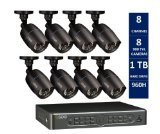 Q-See QT5682-8K8-1 8-Channel DVR 960H Security Surveillance System with 8 High-Resolution ***1000***TVL Cameras and 1 TB Hard Drive (Black)