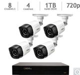 Q-SEE 8 Channel 1TB 720p Analog HD Security System with 4 HD 720p Weatherproof Day/Night Cameras