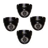 Q-See QTH7213D-4 720p BNC HD Dome Camera 4 Pack with 100′ Night Vision (Black)
