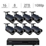 Q-See 16 Channel HD 1080p Security System with 2TB HDD and 8 1080p Cameras