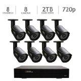 Q-See QC958-8Y5-2 8 Channel DVR Security System, 8 HD 720p Cameras 2TB HDD, – QC958-8Y5-2 (Black)