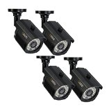 Q-See QM1201B-4 1000 TVL Camera 4 Pack with 100′ Night Vision (Black)