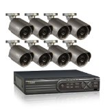 Q-See QT4760-8E4-1 16-Channel CIF/D1 Security Surveillance System with 8 High-Resolution 700TVL Cameras and 1TB Hard Drive
