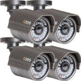 Q-See QM6008B-4 High-Resolution 600TVL Cameras (4 Pack), Black