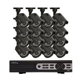 Q-See QTH916-16AG-2 16 Channel 720p Analog HD System with 16 High-Definition 720p Cameras and 2TB Hard Drive (grey)