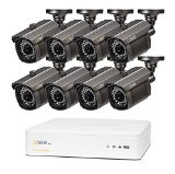 Q-See QT5682-8E3-1 8 Channel 960H/720p DVR with 900TVL High Resolution Cameras and Pre installed 1 TB HDD
