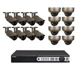 Q-See QT8616-16BE-4 32-CH HD NVR System with 16 Varifocal IP 3MP Cameras, 4TB HDD (Grey)